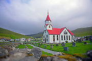 Church in Sandav·gur, V·gar, Faroe Islands