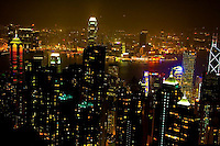 The city lights and parks in Hong Kong