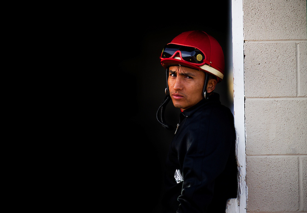Jockey, Rafael Bejarano at Churchill Downs in Louisville, KY on May 01, 2013. (Alex Evers/ Eclipse Sportswire)