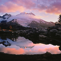 Mt. Baker, Alpine Pond, Sunrise Reflection, Park Butte, WA