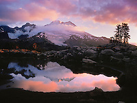 Mt. Baker, Alpine Pond, Sunrise Reflection, Park Butte, WA