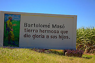 Revolutionary sign in Bartolome Maso, Granma, Cuba.