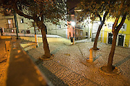 Typical square in the old neighborhoods of Lisbon.