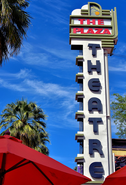 The Plaza Theatre in Palm Springs, California<br /> In December, 1936, the classic movie &ldquo;Camille&rdquo; was released starring Greta Garbo and Robert Taylor. This film was the first to be screened in The Plaza Theatre on South Palm Canyon Drive. Both movie stars attended the premiere. The venue also served as a broadcasting studio for visiting celebrities like Bob Hope and Jack Benny. After closing in 1989, it reopened the following year for seasonal performances of a vaudeville show called &ldquo;The Fabulous Palm Springs Follies&rdquo; until 2014. Discussions are underway to renovate the landmark theater.