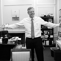 (Boston, MA - 12/21/15) Gov. Charlie Baker talks with the Herald about his year in office at the State House, Monday, December 21, 2015. Staff photo by Angela Rowlings.
