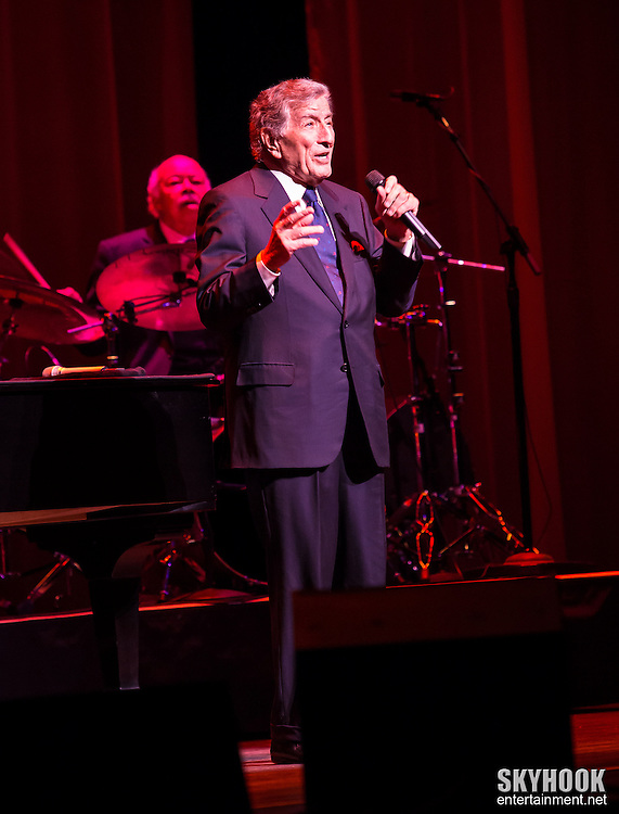 Tony Bennett appearing at the NJ Performing Arts Center in Newark, NJ, Sunday, January 27, 2013.  Photo: Rick Gilbert/Skyhookentertainment