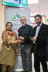 Finsbury Park Mosque, London, February 7th 2016. Local MP and Labour Leader Jeremy Corbyn visits Finsbury Park Mosque as part of a Visit My Mosque initiative by the Muslim Council of Britain to show non-Muslims &ldquo;how Muslims connect to God, connect to communities and to neighbours around them&rdquo;.<br />  ///FOR LICENCING CONTACT: paul@pauldaveycreative.co.uk TEL:+44 (0) 7966 016 296 or +44 (0) 20 8969 6875. &copy;2015 Paul R Davey. All rights reserved.