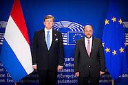 Koning Willem-Alexander houdt een toespraak voor de plenaire vergadering van het Europees Parlement
