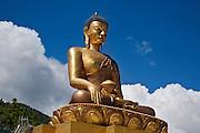 BU00013-00...BHUTAN - Buddha statue under construction above Thimphu. This Buddha Dordenma will be the world's largest at 192.6 feet tall.