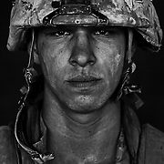 Aug 26, 2008 - Garmsir District, Helmand Province, Afghanistan - U.S. Marine Lcpl. Patrick &quot;Sweetums&quot; Stanborough, age 21 who is part of Alpha Company of the 24th Marine Expeditionary Unit (MEU) Battle Landing Team (BLT) 1/6, after a patrol in Garmsir District, Helmand Province, Afghanistan at Forward Operating Base Apache North. Located in Southern Helmand Province, Garmsir has been a haven for insurgents for the last several years. Earlier this year the Marines cleared the area after a period of heavy fighting. Patrick is from Carmel NY and he has also done a tour of Iraq in addition to this tour.<br /> (Credit Image: &copy; Louie Palu/ZUMA Press)