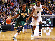 WEST LAFAYETTE, IN - DECEMBER 29: Marcus Thornton #3 of the William & Mary Tribe dribbles the ball to the basket past Terone Johnson #0 of the Purdue Boilermakers at Mackey Arena on December 29, 2012 in West Lafayette, Indiana. Purdue defeated William & Mary 73-66. (Photo by Michael Hickey/Getty Images) *** Local Caption *** Marcus Thornton; Terone Johnson