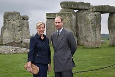 MAY 01 2014 Earl and Countess  visit Stonehenge