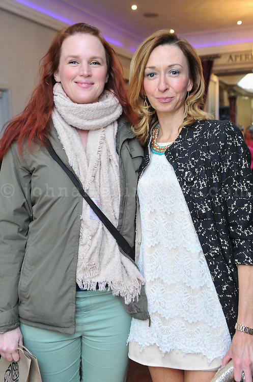 REPRO FREE<br /> Tanya Slattery and blogger Melissa Fitzgerald from headoverkillerheels.com pictured at the Irish Fashion Design Showcase organised by frock advisor and Wear We Wander at the Blue Haven Hotel in Kinsale.<br /> Picture. John Allen<br /> <br /> For immediate release - Contact &amp; Enquiries for further details Bronwyn Connolly 0894389844<br /> <br /> Frockadvisor, Ireland's only Fashion app supporting independent boutiques and designers teamed up with online Ethical Fashion Boutique, Wear we Wander, to showcase and celebrate the very best in Irish Fashion Design in the stunning setting of Aperitif at The Blue Haven, Kinsale. Guests previewed SS16 Collections from well known Irish Designers including Alice Halliday, Charlotte &amp; Jane, Wear we Wander, Celtic Fusion, Mamukko,&amp;  Helle Helsner. While indulging Handmade Irish Chocolate, Wine and Tapas, all while listening to the haunting sounds of the Harp. Guests were truly immersed in the very fantastic display of Irish Design &amp; Fashion. <br /> <br /> frockadvisor is the brain child of Fashion Gurus Brendan Courtney and Sonya Lennon, who between them have many industry years under their beautifully crafted belts. Their careers have included TV broadcasting, styling, journalism and designing.<br /> Using all that knowledge, they developed frockadvisor, through a deep understanding of the industry and a clear sense of what the customer wants. Independent retailers, designers and their customers love each other and are driven by a common search for something different. Fashion is magic and the experience of being advised and assisted by people who you respect and trust is much more beautiful than simply pressing &lsquo;buy it now&rsquo;. frockadvisor is pioneering a new kind of customer experience and providing boutique and designers an opportunity to connect with fashion lovers on a whole new level. <br /> <br /> frockadvisor is delighted be involved with anything that promotes beautiful things p