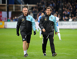 Bristol Rovers Manager Darrell Clarke with Steve Yates - Mandatory byline: Neil Brookman/JMP - 07966 386802 - 24/10/2015 - FOOTBALL - Memorial Stadium - Bristol, England - Bristol Rovers v Newport County AFC - Sky Bet League Two
