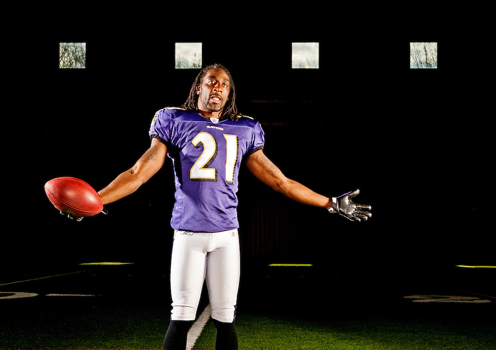 Photo by Matt Roth..Baltimore Ravens' corner back Lardarius Webb is photographed in the field house of the Ravens' Owings Mills Training Facility Wednesday November 17, 2010