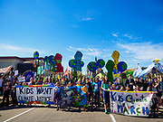 22 APRIL 2017 - ST. PAUL, MN: The Children's Climate March led the Minnesota March for Science to the State Capitol. More than 10,000 people marched from the St. Paul Cathedral to the Minnesota State Capitol in St. Paul during the March for Science. March organizers said the march was non-partisan and was to show support for the sciences, including the sciences behind climate change and vaccines.      PHOTO BY JACK KURTZ