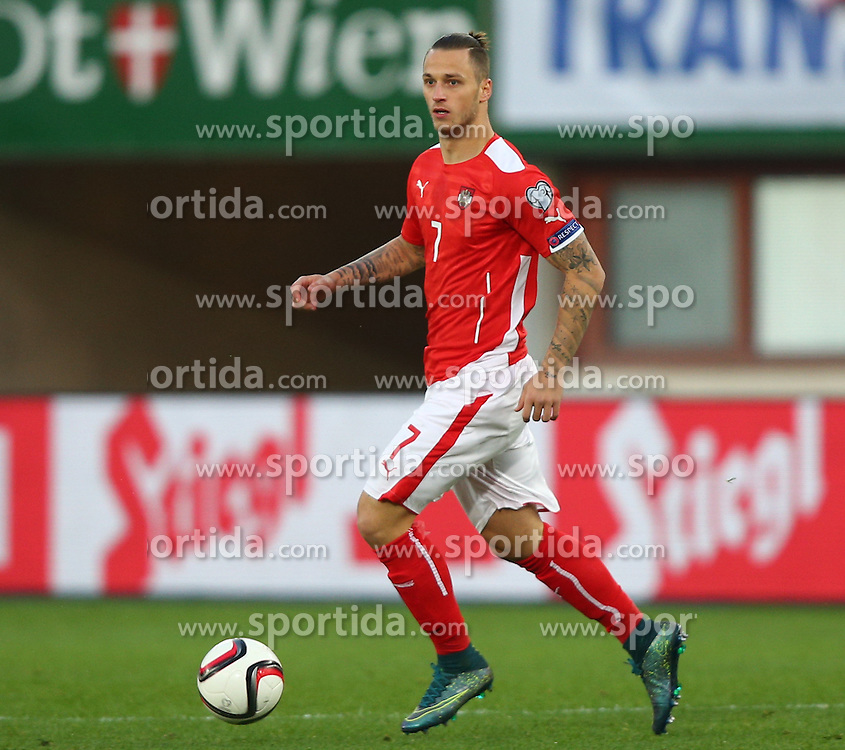 12.10.2015, Ernst Happel Stadion, Wien, AUT, UEFA Euro 2016 Qualifikation, Oesterreich vs Liechtenstein, Gruppe G, im Bild Marko Arnautovic (AUT) // during the UEFA EURO 2016 qualifier group G between Austria and Liechtenstein at the Ernst Happel Stadion, Vienna, Austria on 2015/10/12. EXPA Pictures © 2015, PhotoCredit: EXPA/ Thomas Haumer