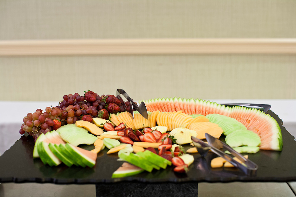 A fruit display in the hallway where Republican presidential candidate Jon Huntsman addressed the New England College Convention on Friday, January 6, 2012 in Concord, NH.