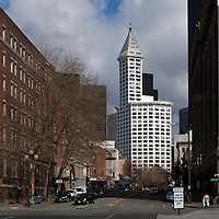 WA09583-00...WASHINGTON - The Smith Tower in downtown Seattle.