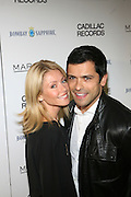 "l to r: Kelly Ripa and Mark Consuelos at the ' Cadillac Records' premiere at held at AMC Broadway 19th Street on Decemeber 1, 2008 in NYC..In this tale of sex,, violence, race, and rock and roll in the 1950's Chicago, 'Cadillac Records"" follows the exciting but turbulent lives of some America's musical legends including Muddy Waters, Leonard Chess, Little Walter, Howlin' Wolf, Chuck Berry and Etta James."