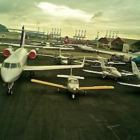 Aerial views of Gelabert Domestic Airport. Albrook. Panama.