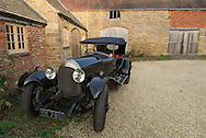"""Julian Majzub, founder / owner of """"Blockley tyre"""" at home in Gloucestershire. Bentley  4 1/2 liter from 1927."""