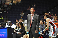 Mississippi head coach Brett Frank watches the action in an NCAA women's college basketball game vs. Southeastern Louisiana in Oxford, Miss. on Friday, November 9, 2012. (AP Photo/Oxford Eagle, Bruce Newman)