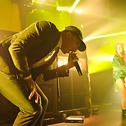 WASHINGTON, DC - October 26th, 2012 - Major Lazer hype-man MC Walshy Fire (left) performs at the 9:30 Club in Washington, D.C.  The group, led by superstar DJ Diplo, plans on releasing their sophomore album in February 2013.(Photo by Kyle Gustafson / For The Washington Post)