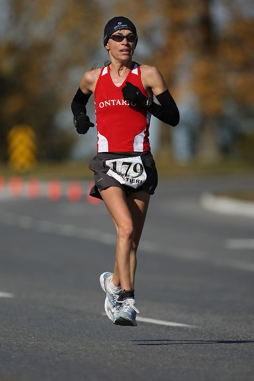 (Ottawa, ON---18 October 2008) WENDY GUALTIERI competes in the 2008 TransCanada 10km Canadian Road Race Championships. Photograph copyright Sean Burges/Mundo Sport Images (www.msievents.com).