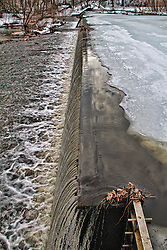 Icy levee in Winfield park NJ.