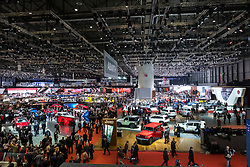 View of exhibition hall at Geneva International Motor Show 2017