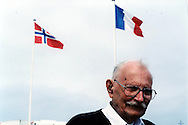 Bob Tackley, British D-Day veteran, in Courseulles in June 2004. Bob died in 2010 in Wales.