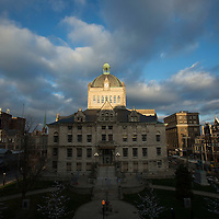The old Fayette County Courthouse at sunset in Lexington, Ky., Thursday, December 3, 2015. (Photo by David Stephenson)