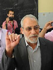 AUG 20 2013 File Photo: Arrested - Egypt's Muslim Brotherhood Mohamed Badie