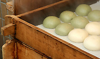 Manju, a special type of Japanese confectionary filled with sweet bean paste and steamed.