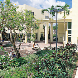 Patio inside the University of Miami School of Law