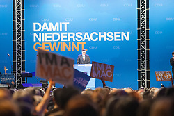 The half-Scottish governor of Lower Saxony, David McAllister during an election campaign event at Hildesheim, Germany..©Michael Schofield.
