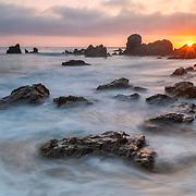 Corona Del Mar Tide Pools - High Tide - Sunset