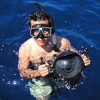 Eric Cheng off of Kona, Hawaii