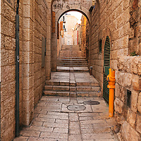 Ha-Malakh Street in the Jewish Quarter of the Old City of Jerusalem.