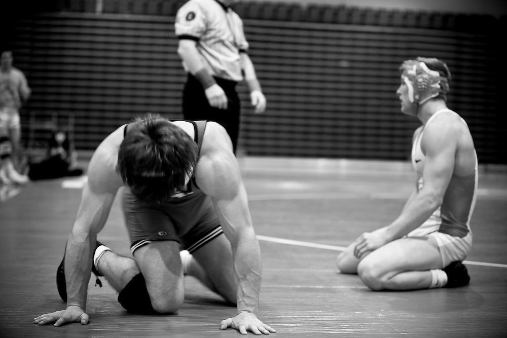 Men's wrestling BU vs Harvard on Feb 11th, 2011.