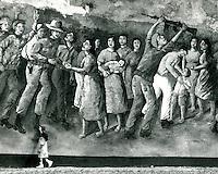 sandinista mural in managua, nicaragua, 1982