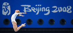 Germany's Katja Abel performs on the beam during a training session in the National Indoor Stadium ahead of the opening of the Olympic games in Beijing, China, 07 August 2008.