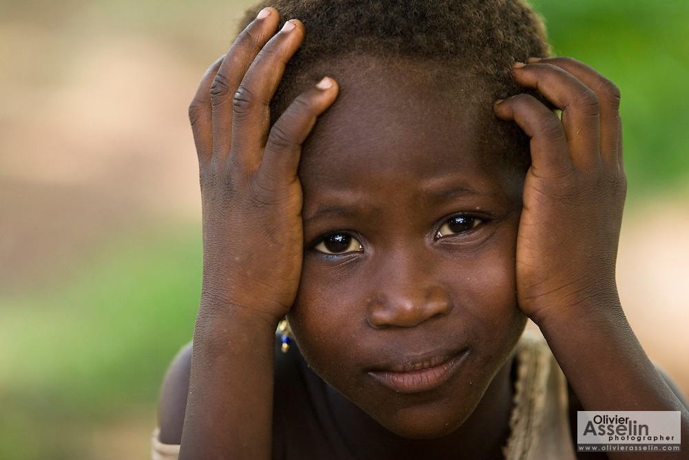 Girl in the village of Chaalam, Ghana on Tuesday June 5, 2007.