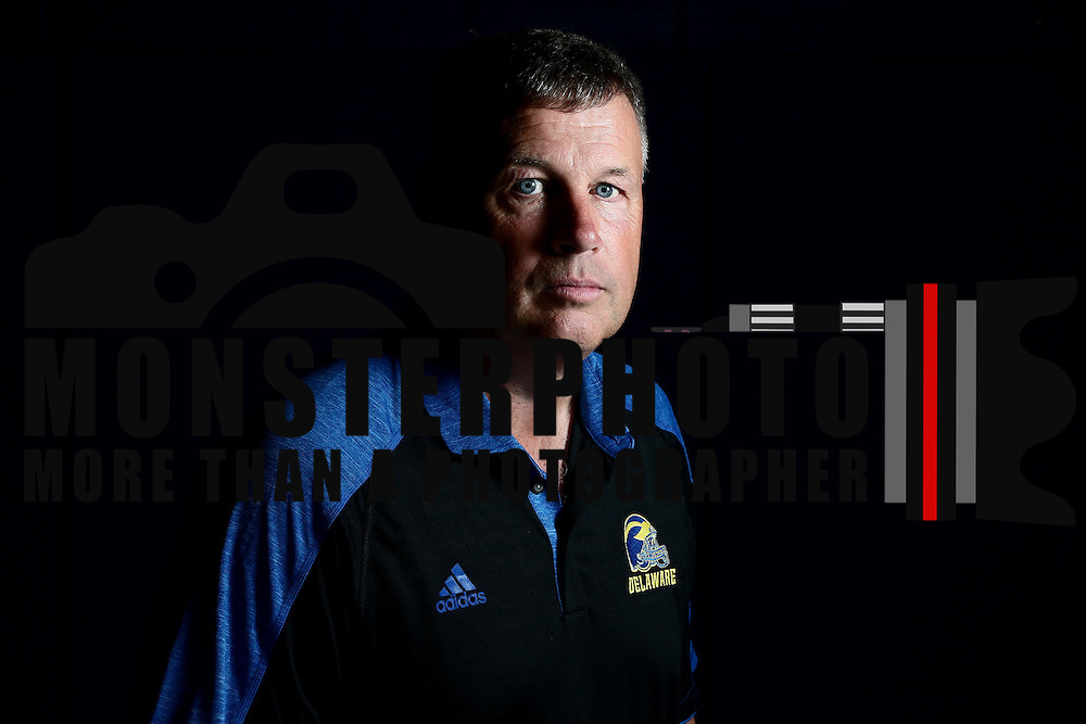 Photo of Delaware Head Football Coach Dave Brock taken Sunday, August 14, 2016, at Delaware Field House Facility on the campus of the university of Delaware in Newark.