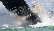 Abu Dhabi Racing's Azzam at the start of the Rolex Fastnet Race