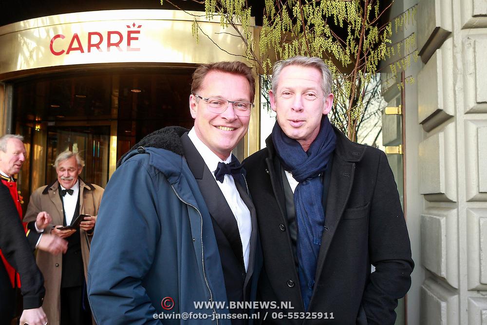 NLD/Amsterdam /20130403 - 125 jarig jubileum Carre, Albert Verlinden en partner Onno Hoes
