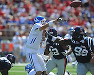 at Vaught-Hemingway Stadium in Oxford, Miss. on Saturday, October 2, 2010. Ole Miss won 42-35 to improve to 3-2..