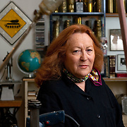 Germany - KUNST - artist: NANCY KIENHOLZ (working with her husband ED Kienholz, who died 1994), NATIONAL GALLERY LONDON will show in Novembre 2009 > The Hoerengracht (1983-8), by American artists Ed & Nancy Kienholz; HERE: in her studio, appartment in Berlin, 27.05.2009; copyright > Christian Jungeblodt