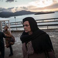 A migrant women is seen at the Oxy transition camp. Migrant landing on the north shores of Lesbos come at this camp and after they will be transfered in other camps. FEDERICO SCOPPA/CAPTA